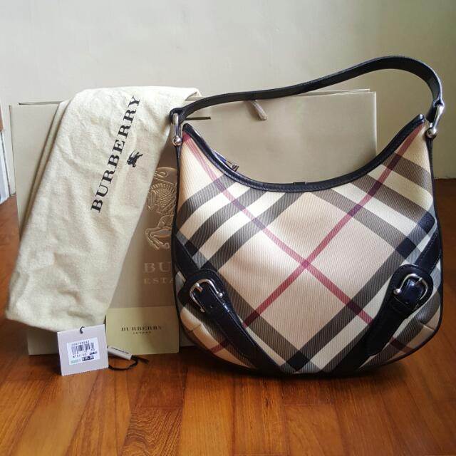 5431e0c5d660 Burberry Nova Check Hobo Handbag