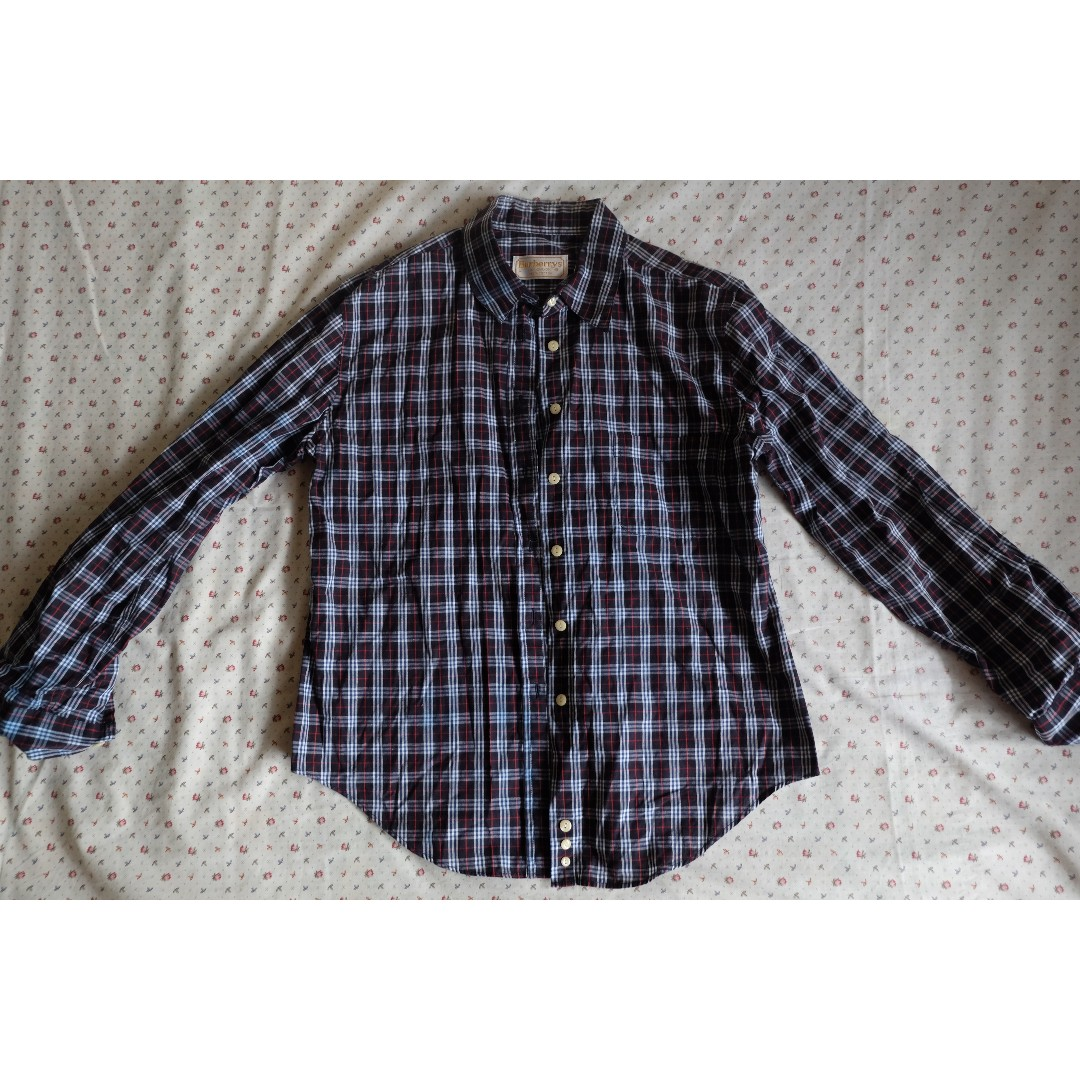 Checkered button-down polo