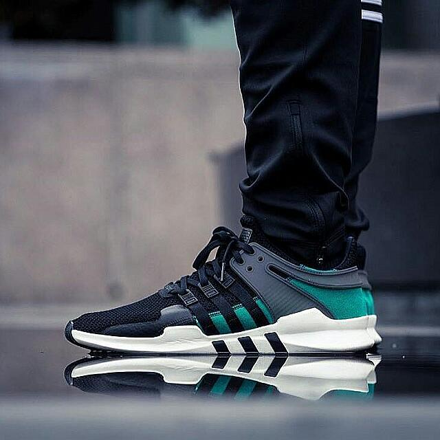 low priced c988c a8b4c Copy Ori Adidas EQT Black Green