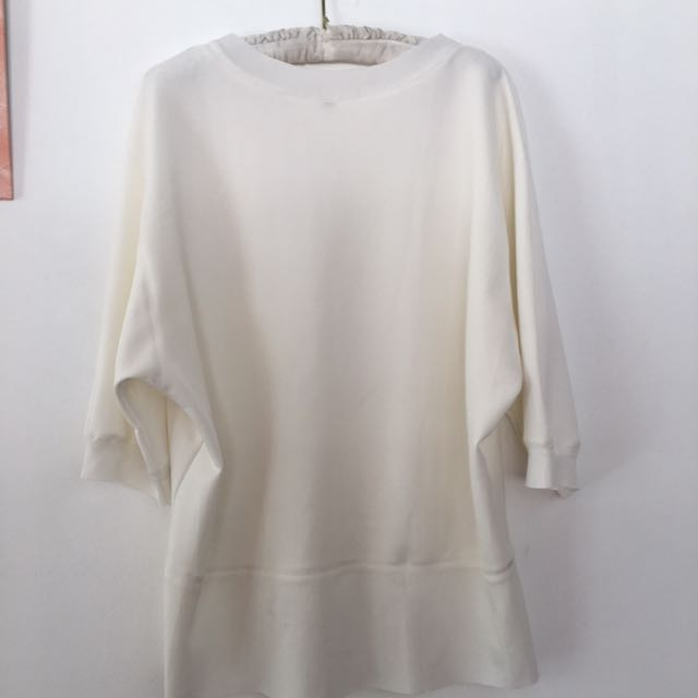 Cream white neoprene top