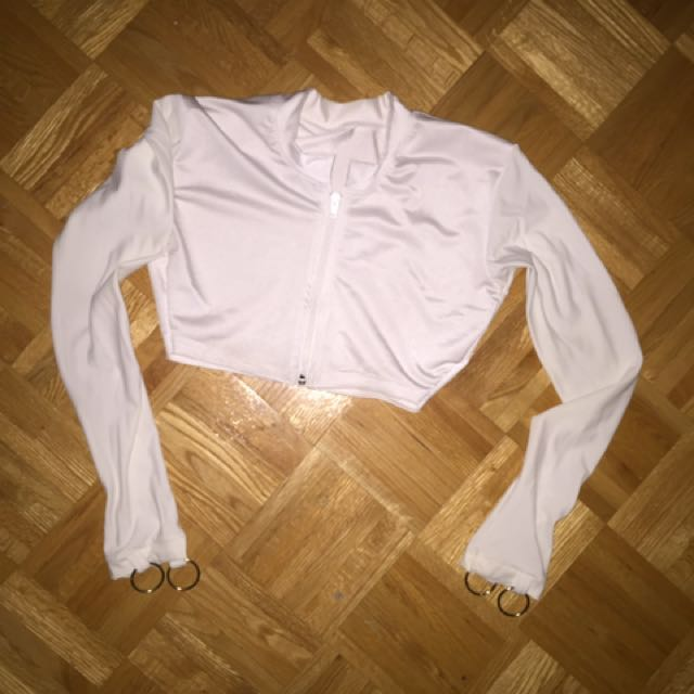 Custom Made Zip Up Crop Top