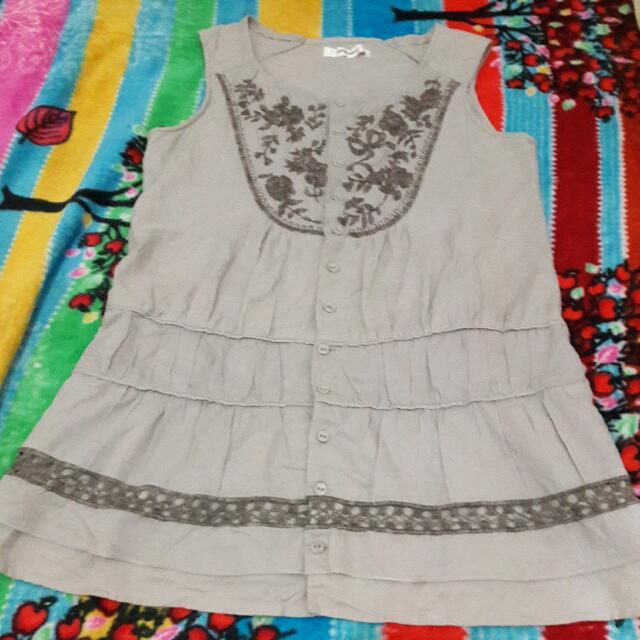 Dress Pendek Tanpa Lengan/rompi Cardigan