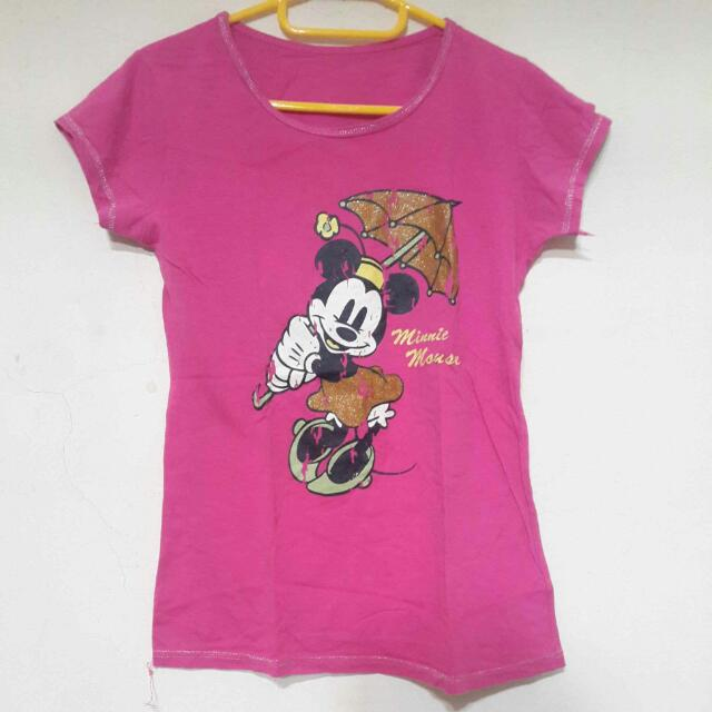 Electric Pink Mickey Shirt