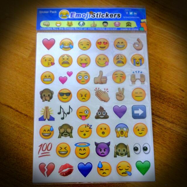 Emoji表情符號貼紙*4大張