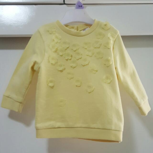 F&F Yellow Top Upto 3 Months