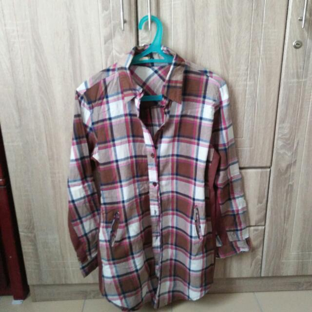 Flannel Checkered Blouse