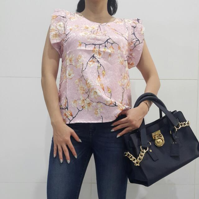 Floral Blossom Pink Blouse