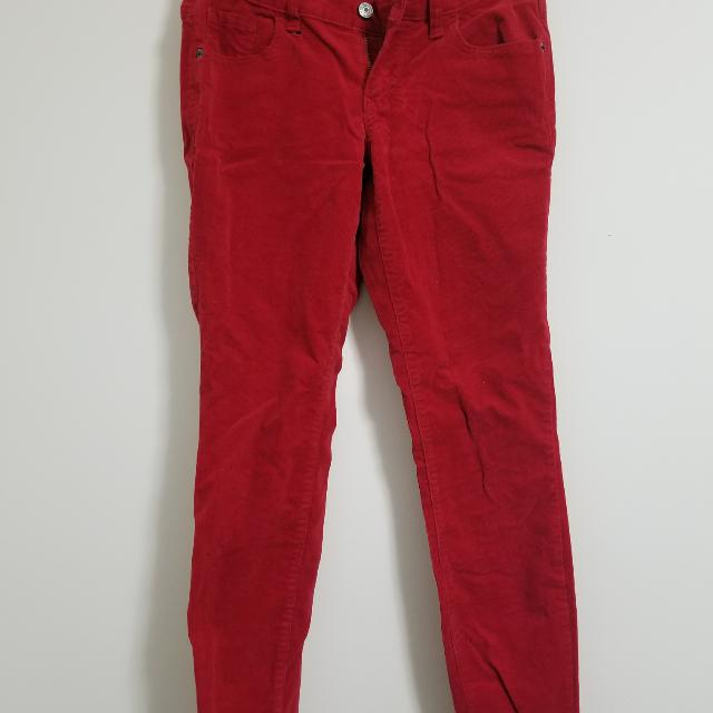 (FREE with Purchase) Red Cord Skinny Jean