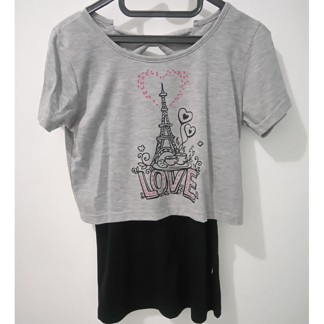 Baju gambar Paris merek Nevada