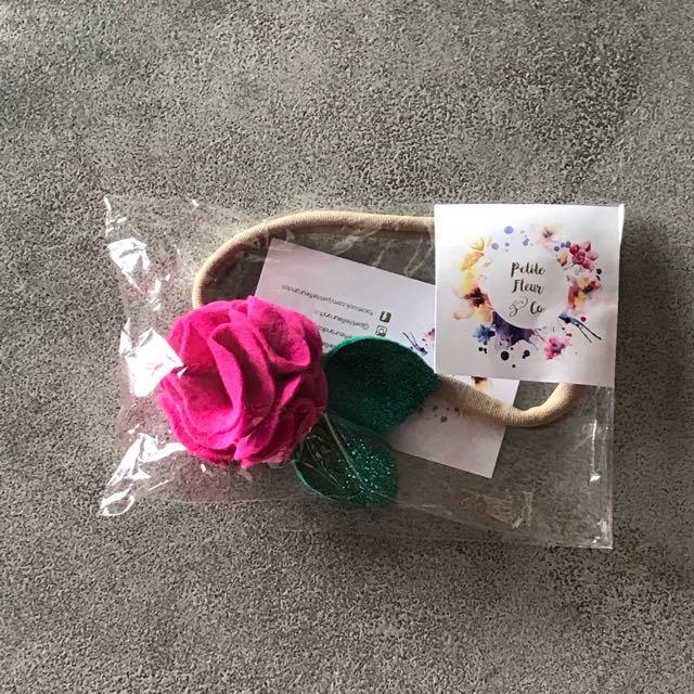 Girls Wool Felt Flower Headband