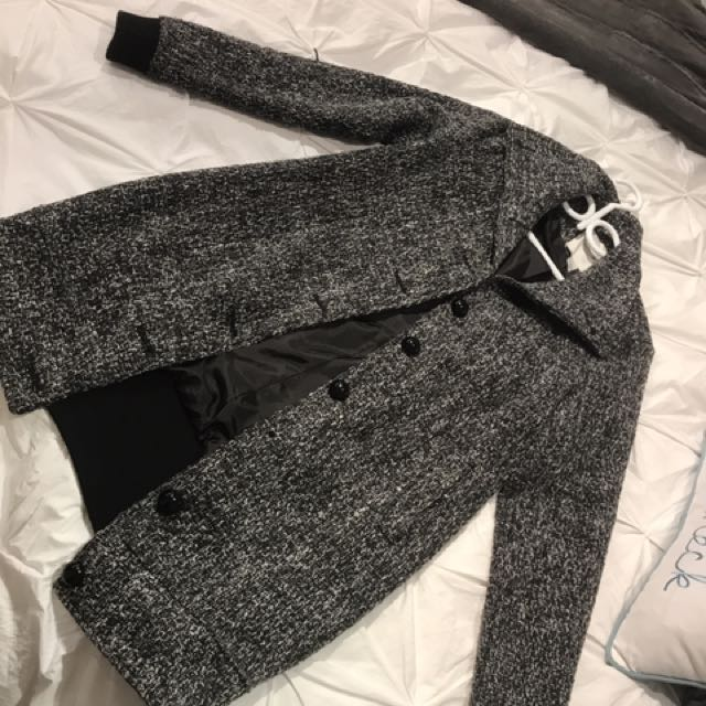 Grey Forever 21 Coat (S) - Missing Button
