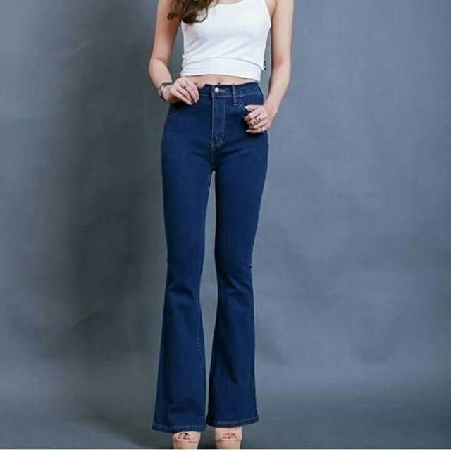 High Waist Cutbray Jeans