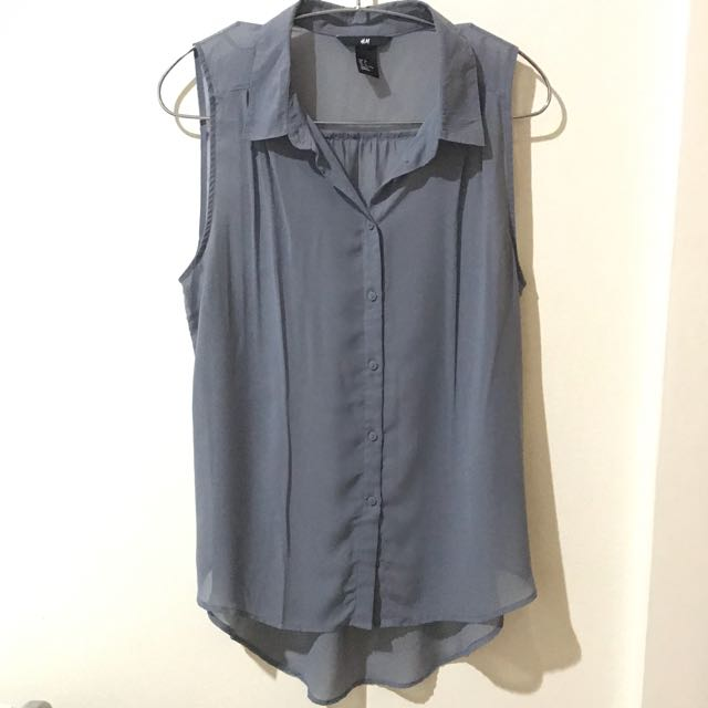 H&M Collared Chiffon Shirt