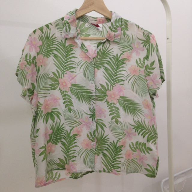 H&M Floral Shirt (Size 38, Fit To M)