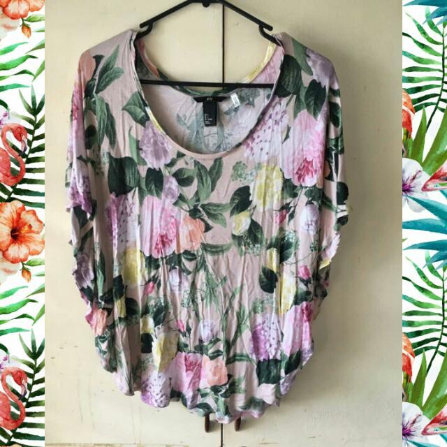 H&M loose floral blouse