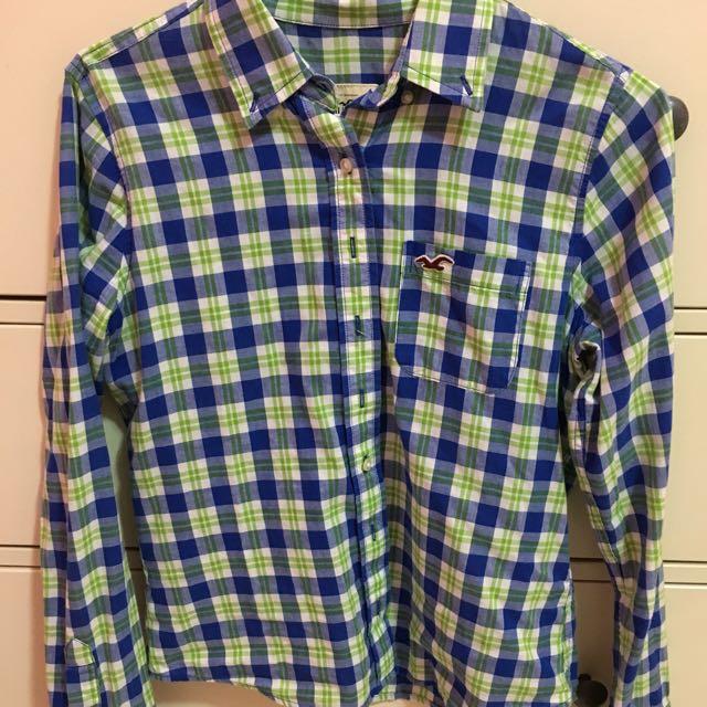Hollister 藍綠格子襯衫