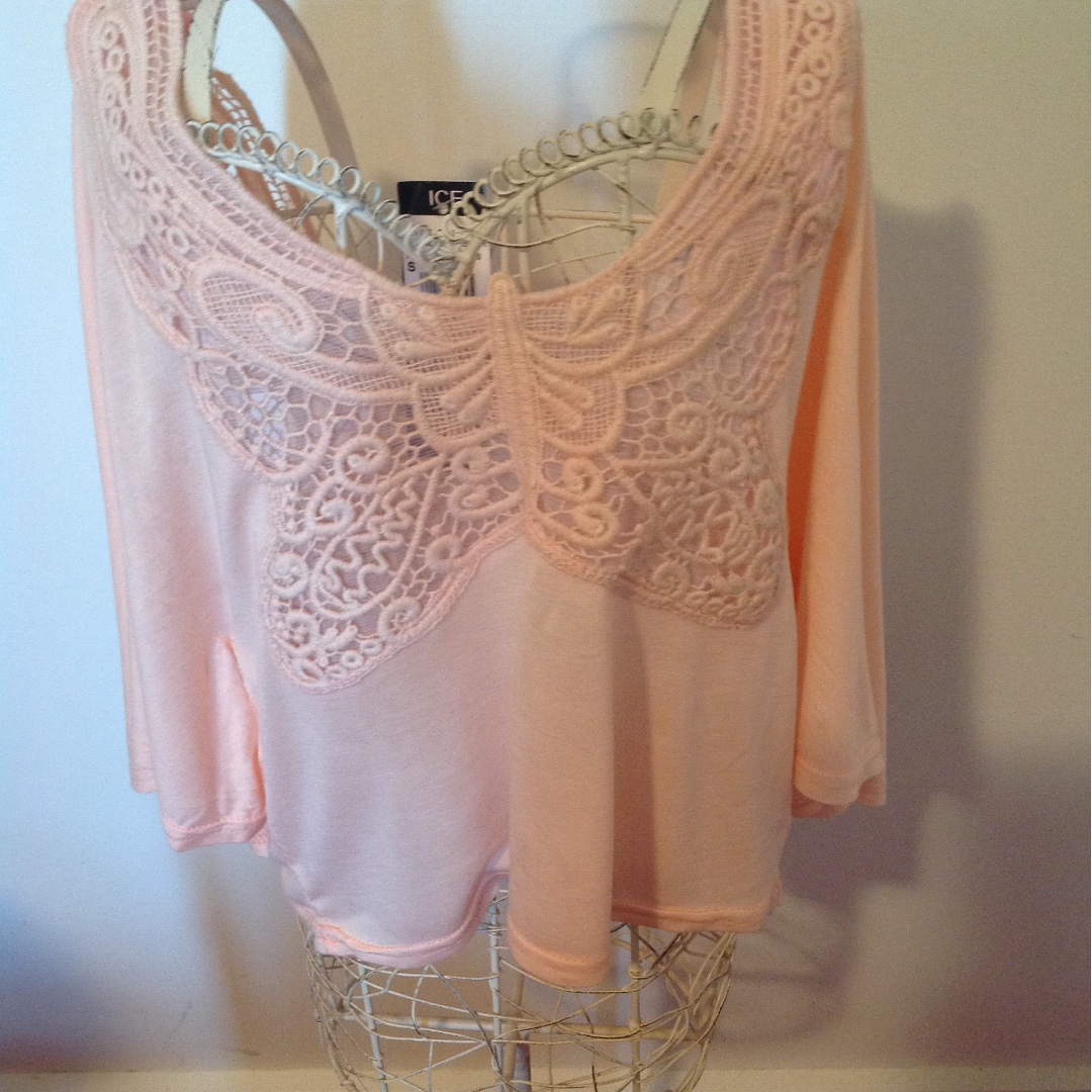 ICE pink butterfly top