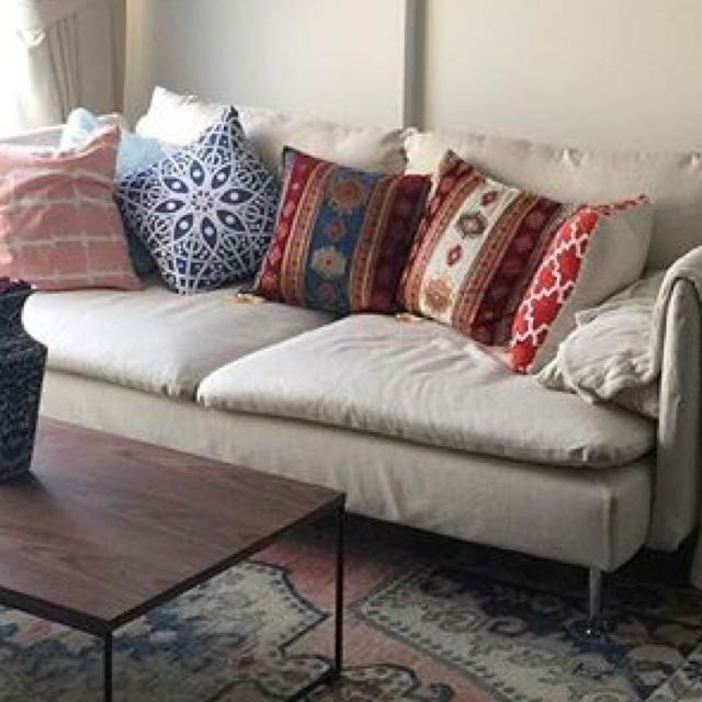 IKEA SODERHAMN SOFA (Isunda Beige)   Used A Couple Of Months Only,  Furniture, Sofas On Carousell