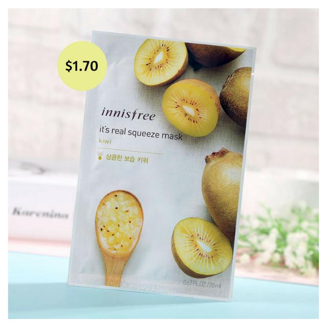 [6 PIECES] Innisfree Facial Mask - Kiwi