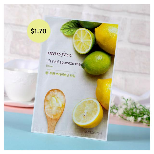 [6 PIECES] Innisfree Facial Mask - Lime