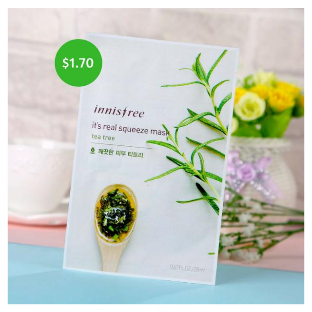 [6 PIECES] Innisfree Facial Mask - Tea Tree