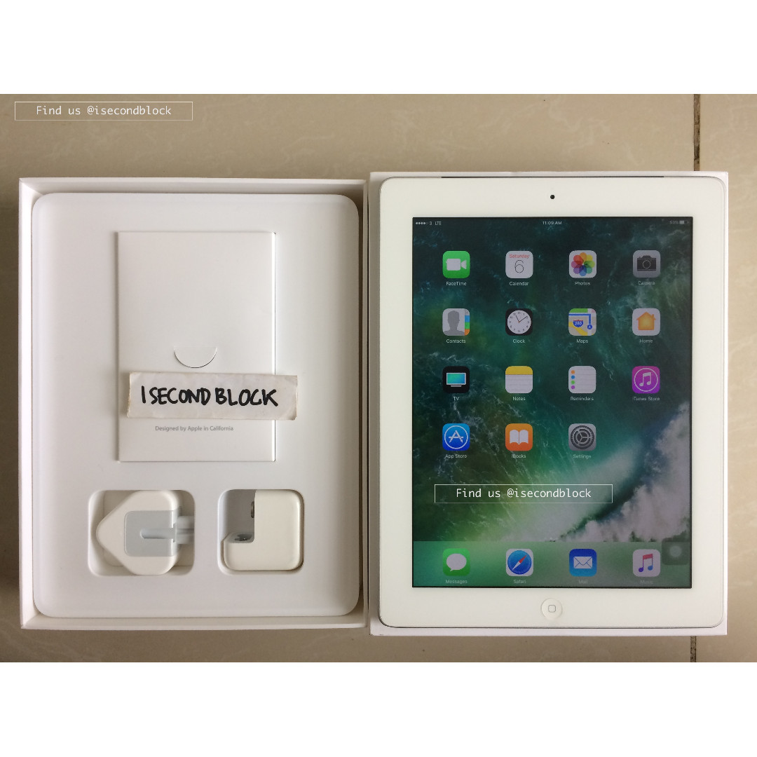 Ipad 4 64GB CELL 4G LTE Second Fullset Istimewa