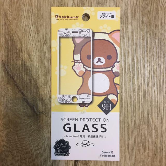 正版三麗鷗拉拉熊造型IPhone 6/6S 螢幕玻璃保護貼