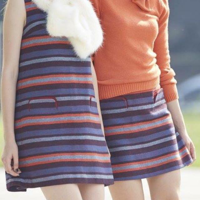 iROO 40 條紋毛海短裙