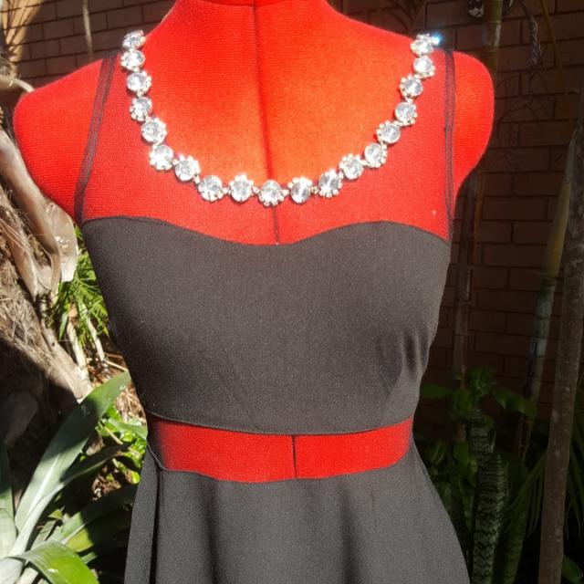Jewel Neckline Skater Dress