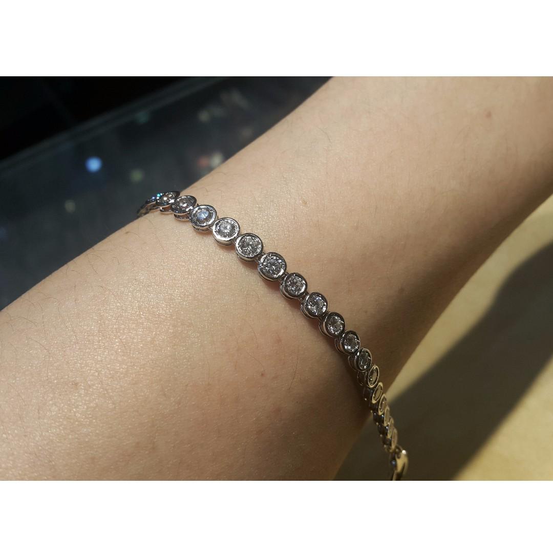 白K 鑽石手鍊