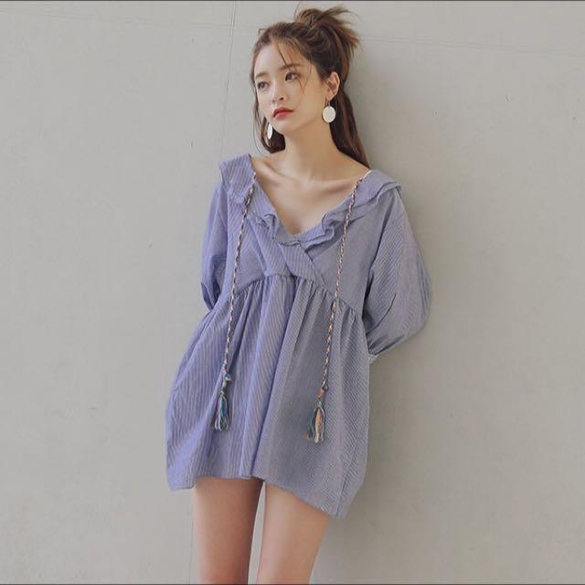 Stylenanda Korea Fringed Decorated Dress