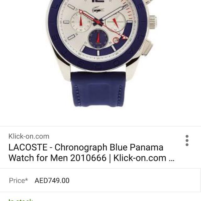 Lacoste Panama watch