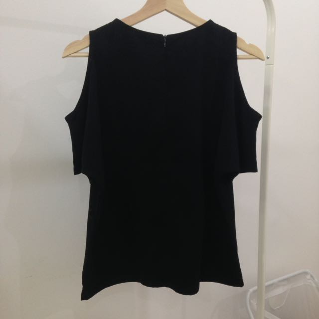 Le Bijou Black Cropped Shoulder (Size S)