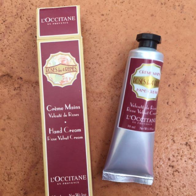L'occitane hand ceeam,rose velvet