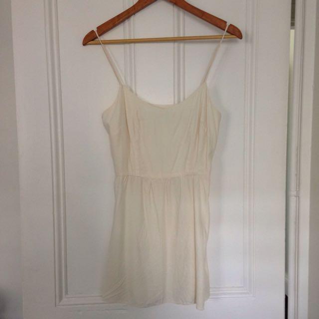 Lover Silk Cream Dress Size 10