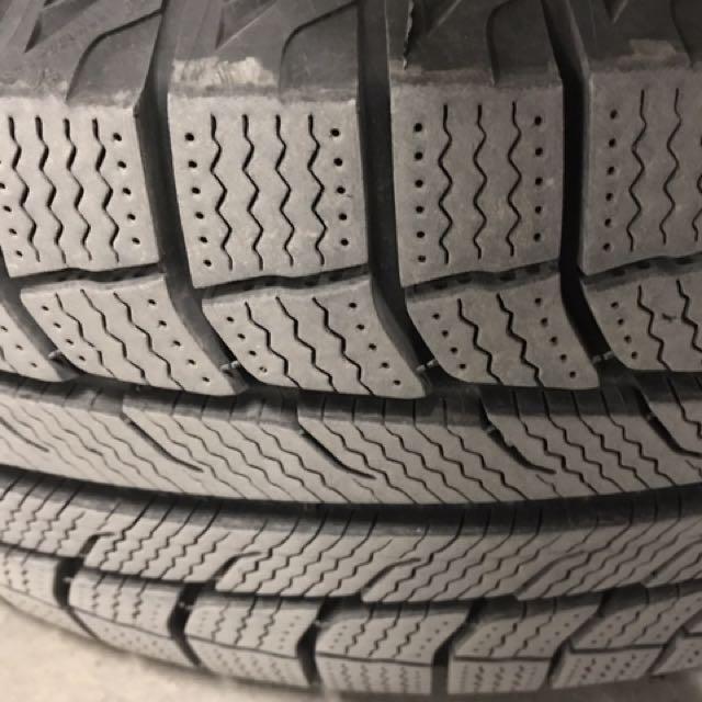"""Michelin Latitude X-Ice 225/70R16 on 16"""" Honda Steel Rims"""