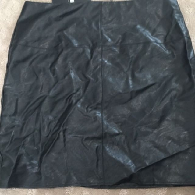 Misguided leather Skirt