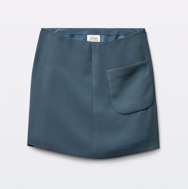New - Aritzia Wilfred Essonne Skirt - Teal