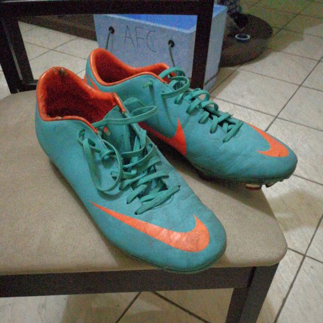 Nike Mercurial In Blue-green And Orange (9.5)