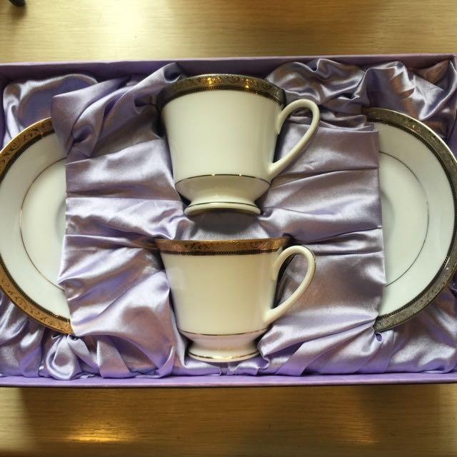 全新Noritake西式茶杯茶盤禮盒