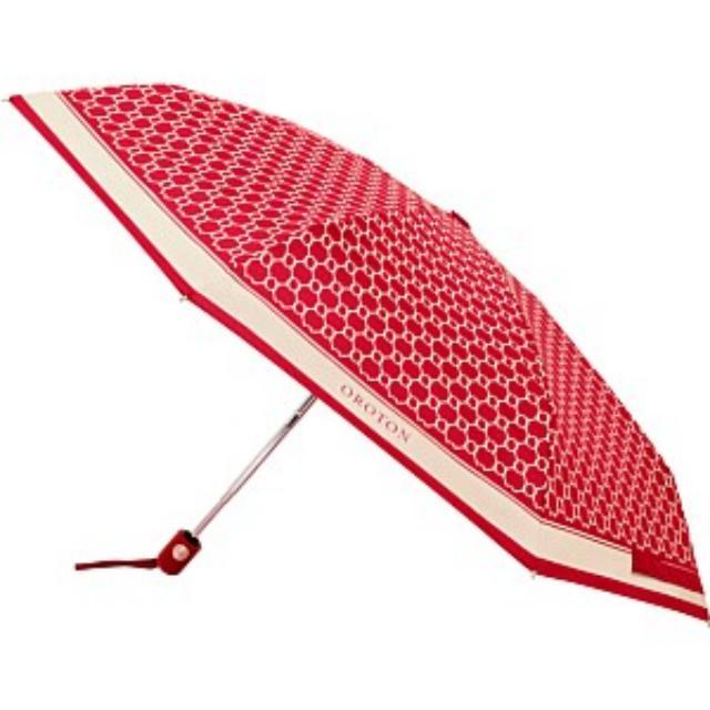 Oroton  red  umbrella