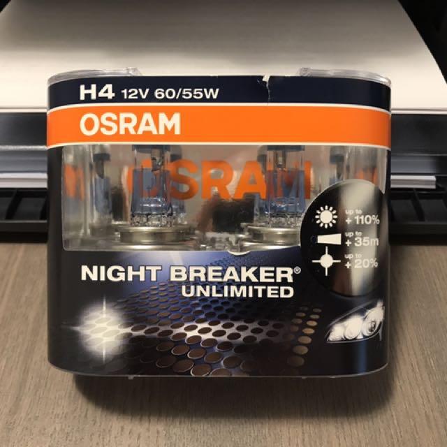 OSRAM NightBreaker Unlimited Halogen Bulbs - H4