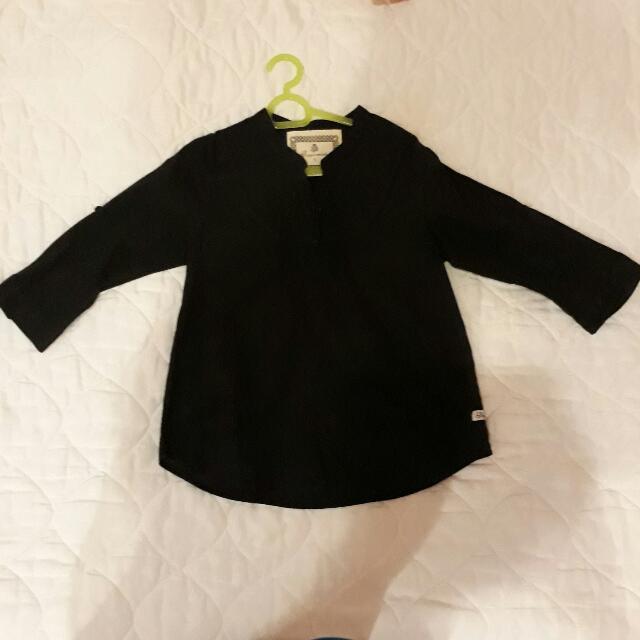 Peppermint Black Blouse 4yo