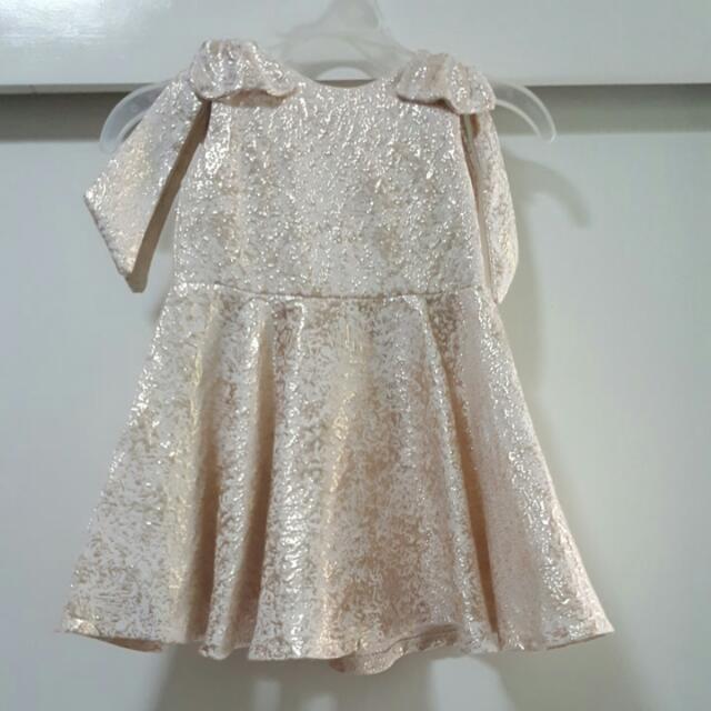 Peppermint Gold Dress 1T