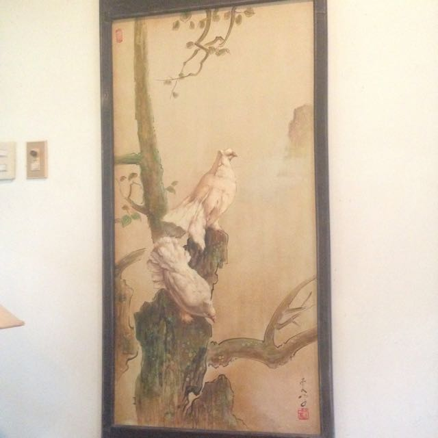 Pigeon Painting Lee Man Fong