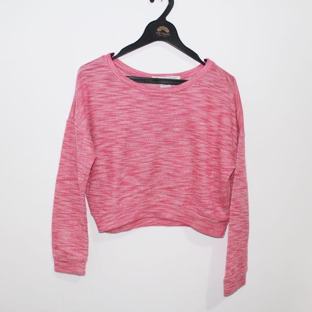 pink crop longsleeve