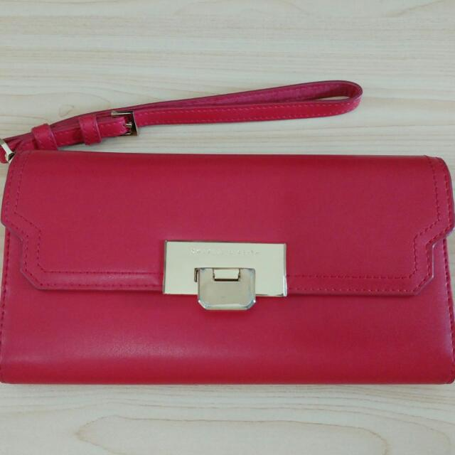 Preloved Charles & Keith Red Wallet