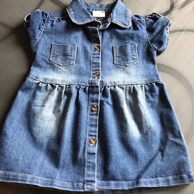 Preloved Jeans Dress Size 18/24 Months