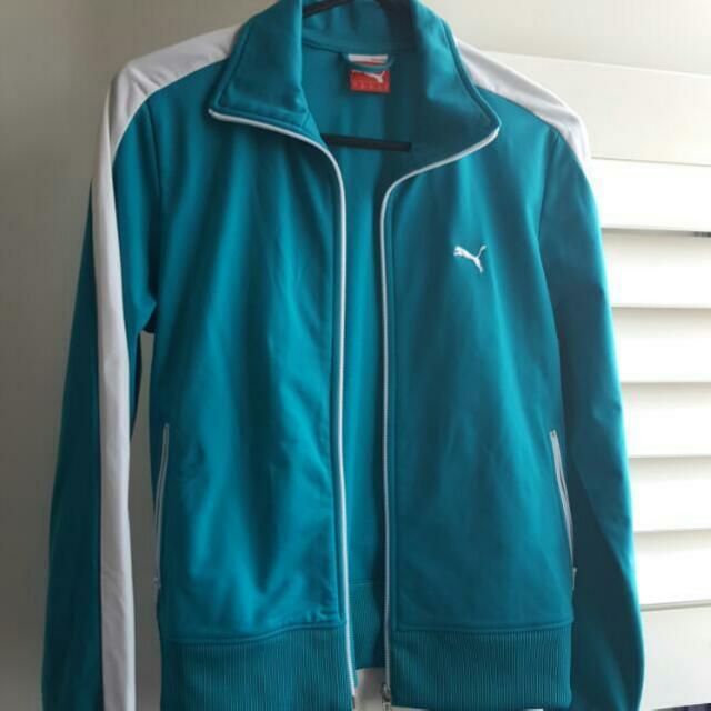 Puma Jacket Aqua White Size L/14