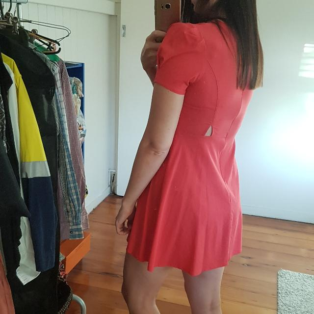 Red Skater Dress Size AU 10